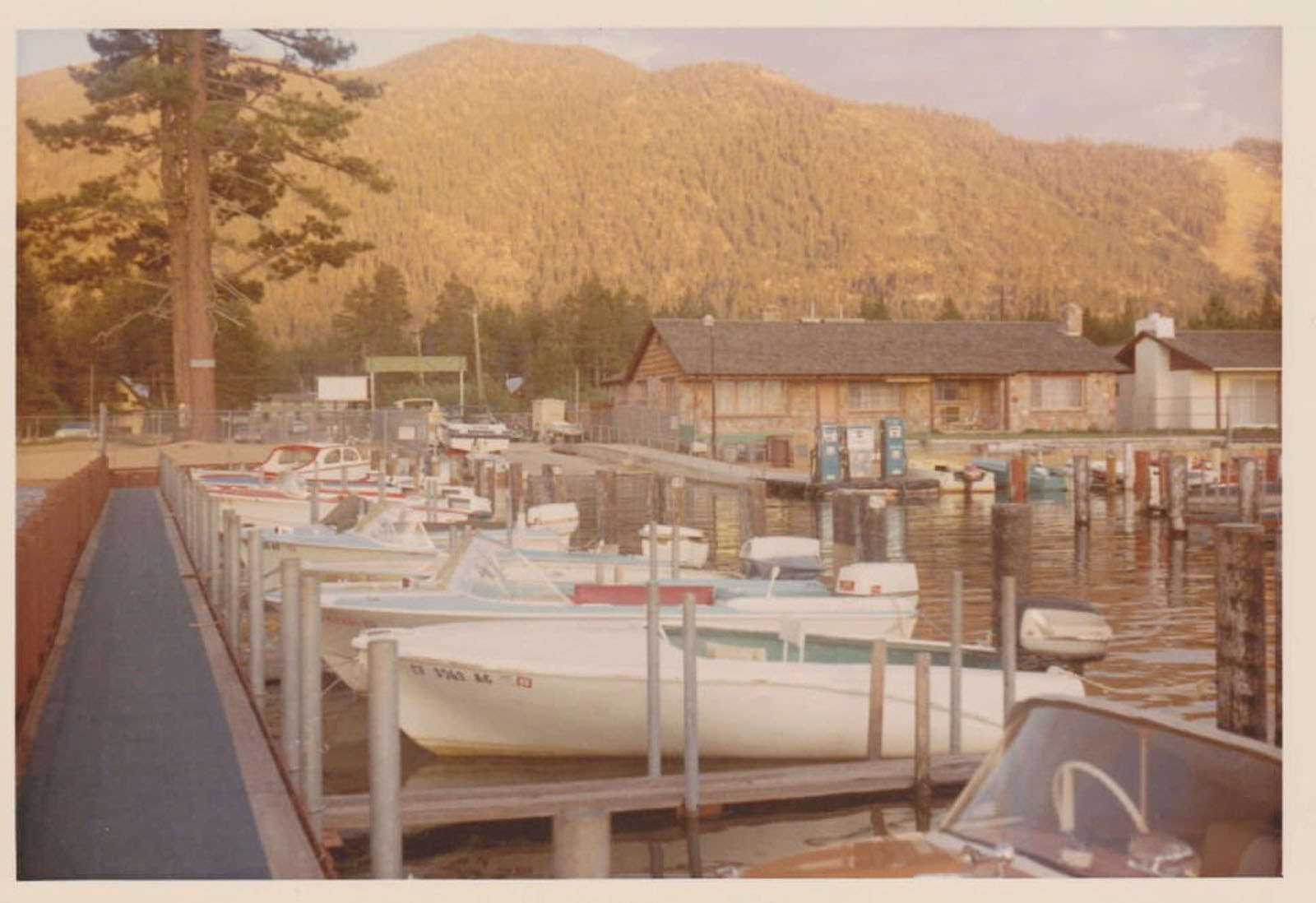 Lakeside Marina 1967 lake tahoe