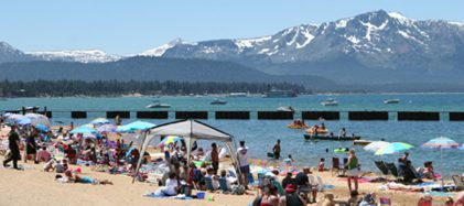 Lakeside Beach Lake Tahoe in July