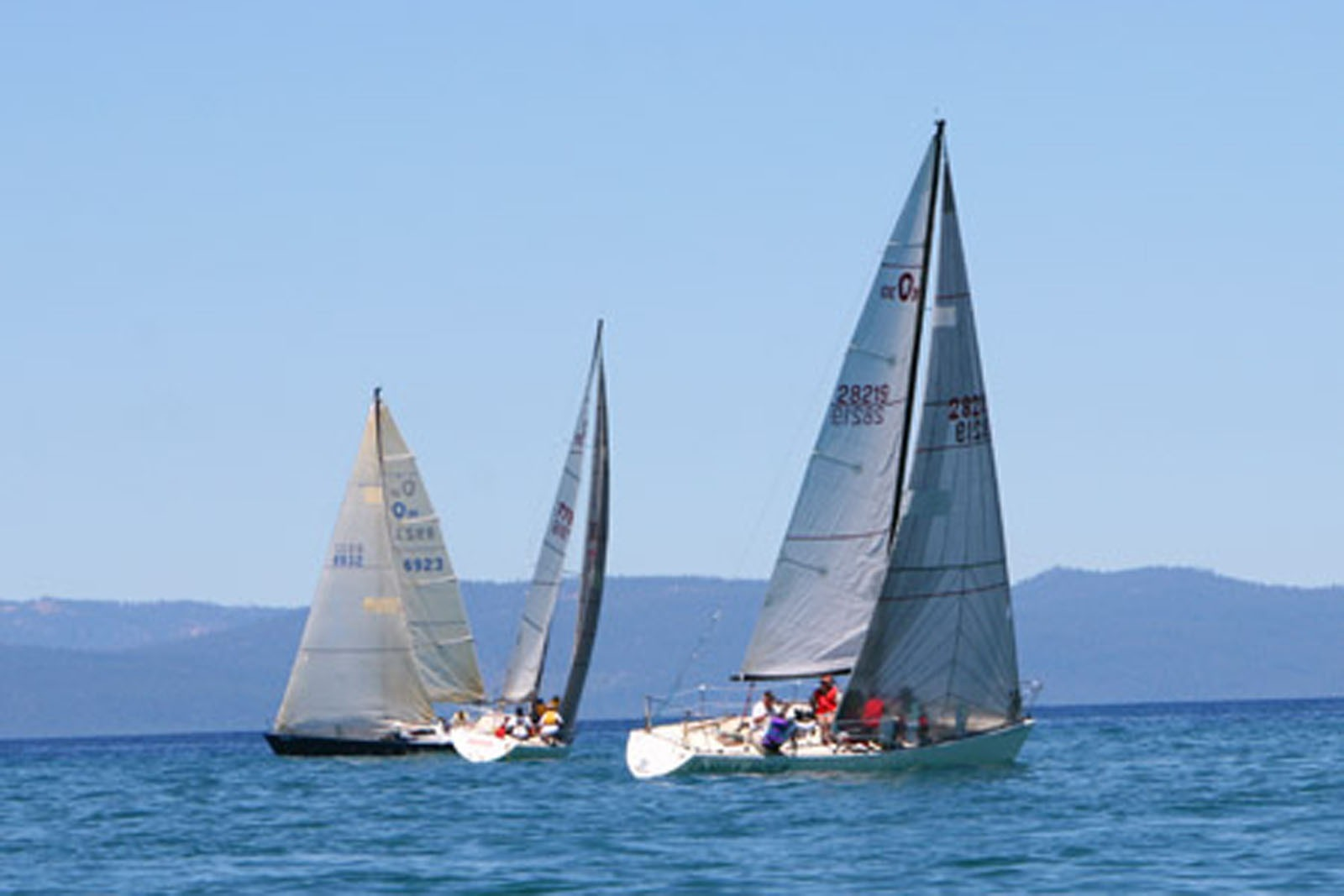 Sailboats on Lake Tahoe